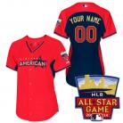 All-Star 2014 American League Women's Personalized  BP Jersey