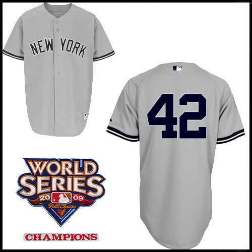 4ab83921a New York Yankees Authentic Style Road Gray Jersey Mariano Rivera  42 ...