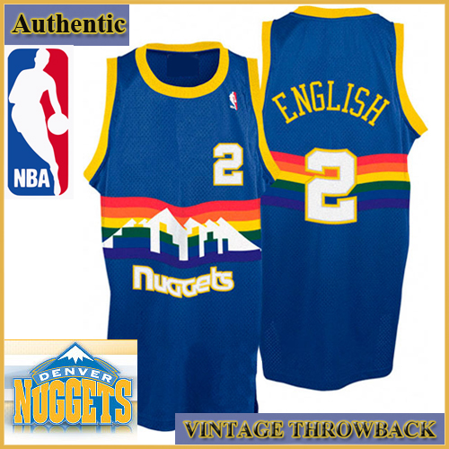 Denver Nuggets Authentic Style Throwback Blue Road Jersey