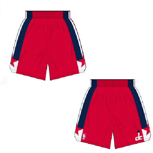 Mens Washington Wizards Road Red Authentic Style On-Court Shorts ... f19c85756