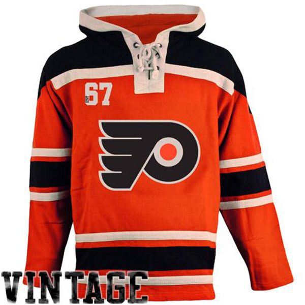 Mens Philadelphia Flyer Old Time Orange Lace Heavyweight Hoodie Hockey  Jersey a6fb72281bc