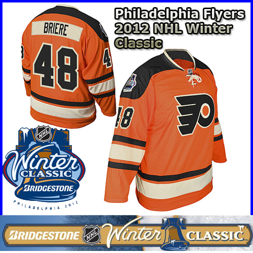 Philadelphia Flyers 2012 NHL Winter Classic Jersey 48 Daniel Briere ... 2b1e6d130