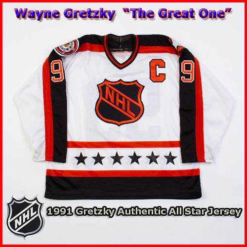 Wayne Gretzky 1991 NHL Authentic Style All Star Game Jersey - Custom ... 586d1f5f158