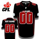CFL Custom Ottawa Redblacks Premier TC Black  Football Jersey