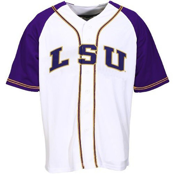 timeless design 8fd9f 4925b LSU Tigers White NCAA College Baseball Jersey