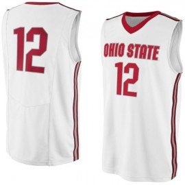 Ohio State Buckeyes NCAA College White Basketball Jersey