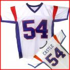 Blue Mountain State TV Show White Jersey Thad Castle #54