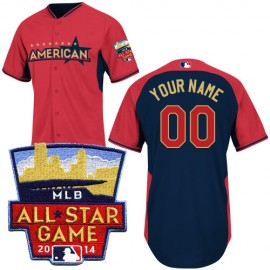 American League Authentic Personalized 2014 All-Star BP Jersey