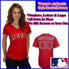 LA Angels of Anaheim Authentic Personalized Women's Red Jersey