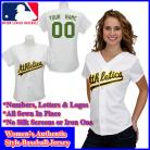 Oakland Athletics Authentic Personalized Women's White Jersey