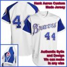 Atlanta Braves Authentic Throwback White Cooperstown Jersey #44 Hank Aaron