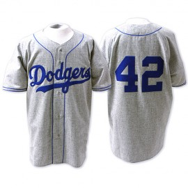 Brooklyn Dodgers Legends Classic Road Jersey Gray #42 Jackie Robinson