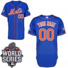 New York Mets Authentic Style Personalized Alt Blue World Series 2015 Jersey