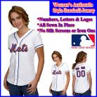 New York Mets Authentic Personalized Women's White Jersey