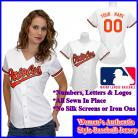 Baltimore Orioles Authentic Personalized Women's White Jersey