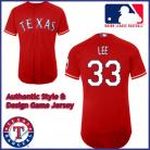 Texas Rangers Authentic Style Alt 1 Red Jersey Cliff Lee #33