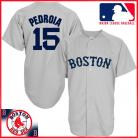 Boston Red Sox Authentic Style Away Gray Jersey #15 Dustin Pedroia