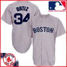 Boston Red Sox Authentic Style Away Gray Jersey #34 David Ortiz Gray