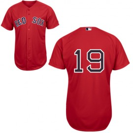 Boston Red Sox Authentic Style Alt Red Home Jersey #19 Josh Beckett