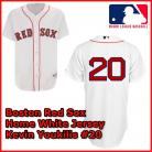 Boston Red Sox Authentic Style Home White Jersey Kevin Youkilis #20