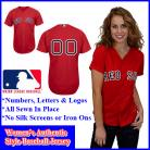 Boston Red Sox Women's Authentic Personalized Women's Red Jersey