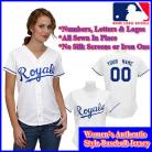 Kansas City Royals Authentic Personalized Women's White Jersey