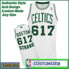 Celtics  BOSTON 617 STRONG NBA Basketball White Tribute Jersey