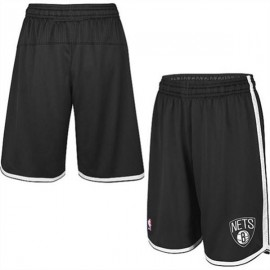 Mens Brooklyn Nets Black  Authentic Style On-Court Shorts