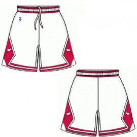 Mens Chicago Bulls Home White Authentic Style On-Court Shorts