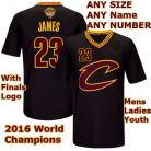 LeBron James #23 Cleveland Cavaliers Authentic Style Black Sleeved Champs Jersey