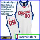 Los Angeles Clippers  White Authentic Style Classic Home Jersey