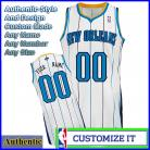 New Orleans Hornets Custom Authentic Style Home Jersey White