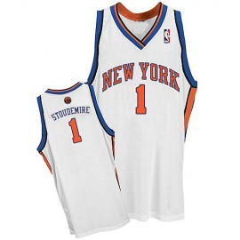 New York Knicks Authentic Style Home Jersey White #1 Amar'e Stoudemire