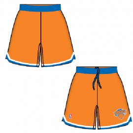 Mens New York Knicks Alt Orange Authentic Style On-Court Shorts