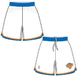 Mens New York Knicks Home White Authentic Style On-Court Shorts