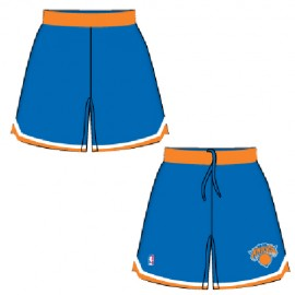 Mens New York Knicks Road Blue Authentic Style On-Court Shorts