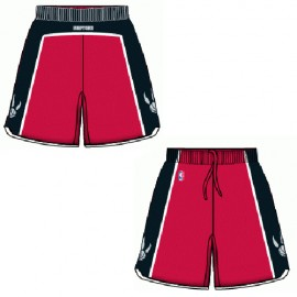 Mens Toronto Raptors Road Red Authentic Style On-Court Shorts