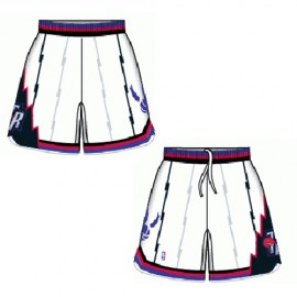Mens Toronto Raptors Throwback White Authentic Style On-Court Shorts