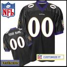 Baltimore Ravens RBK Style Authentic Alt Black Jersey (Pick A Player)