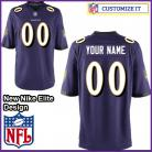 Baltimore Ravens Nike Elite Style Team Color Purple Jersey (Pick A Name)