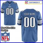 Detroit Lions Nike Elite Style Team Color Blue Jersey (Pick A Name)