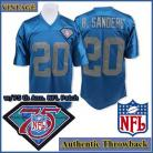 Detroit Lions 1994 Authentic Style Throwback Blue Jersey #20 Barry Sanders