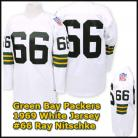Green Bay Packers 1969 NFL White Jersey #66 Ray Nitschke