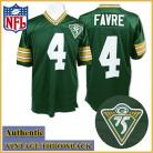 Green Bay Packers Authentic Style Throwback Green Jersey #4 Brett Favre