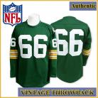 Green Bay Packers Authentic Throwback Long Sleeve Green Jersey #66 Ray Nitschke