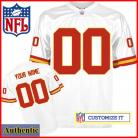 Kansas City Chiefs RBK Style Authentic White Jersey (Pick A Player)