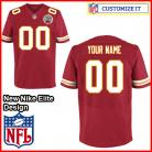 Kansas City Chiefs Nike Elite Style Team Color Red Jersey (Pick A Name)