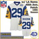 Los Angeles Rams Authentic Style Throwback White Jersey #29 Eric Dickerson