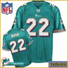 Miami Dolphins NFL Authentic Green Football Jersey #22 Reggie Bush