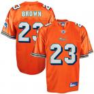 Miami Dolphins NFL Orange Alt  Football Jersey #23 Ronnie Brown